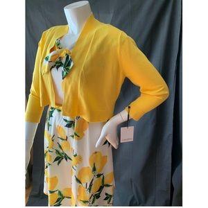 Lemon Print Swing Dress & Calvin Klein Sweater